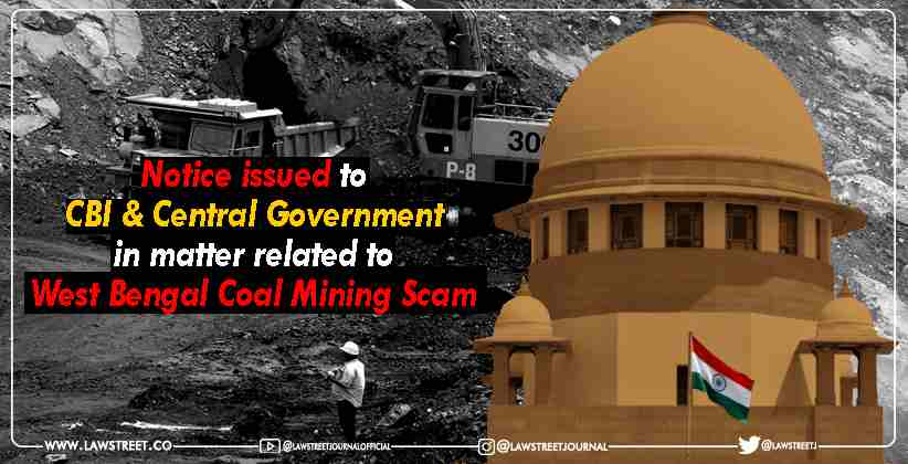 West Bengal Coal Mining Scam SC