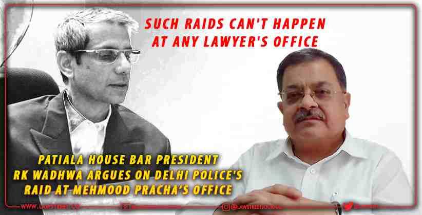 Patiala House Bar President RK Wadhwa