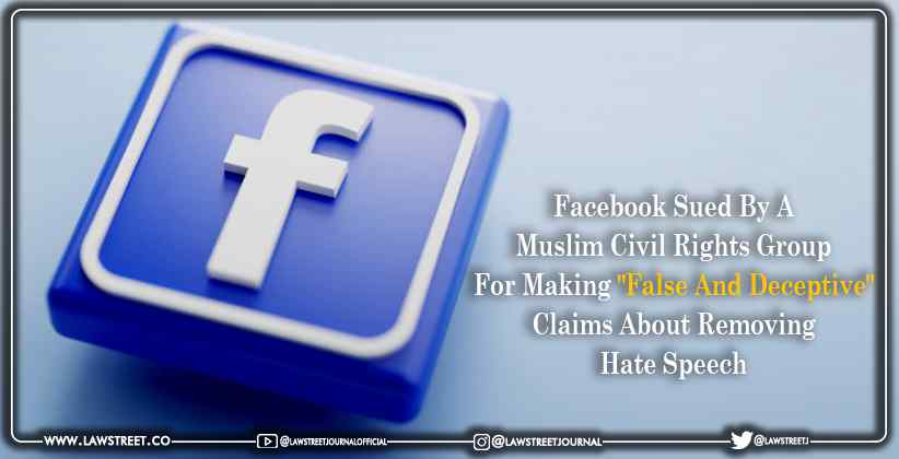 Facebook sued by a Muslim Civil Rights group