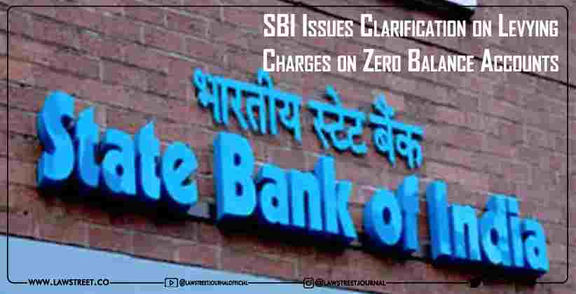 SBI Issues Clarification on Levying Charges…