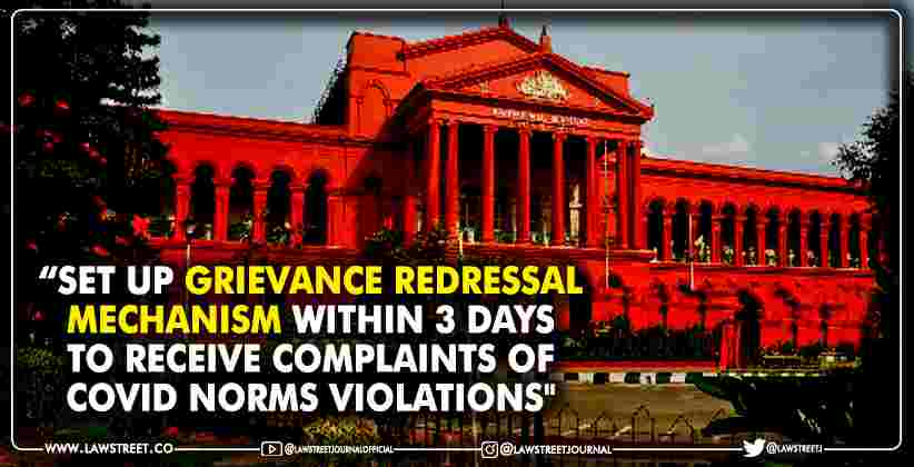 COVID Norms Violations Grievance Redressal Mechanism