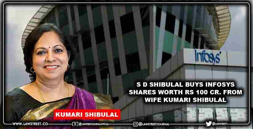 S D Shibulal buys Infosys shares worth Rs 100 cr. from wife Kumari Shibulal