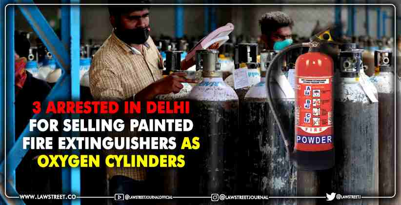 Delhi Police Fire Extinguishers Oxygen Cylinders