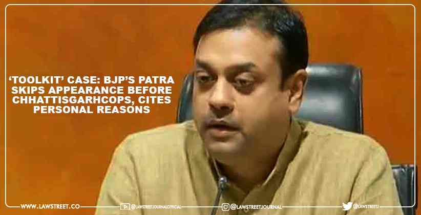 'Toolkit' case: BJP's Patra Skips Appearance Before Chhattisgarh Cops, Cites Personal Reasons