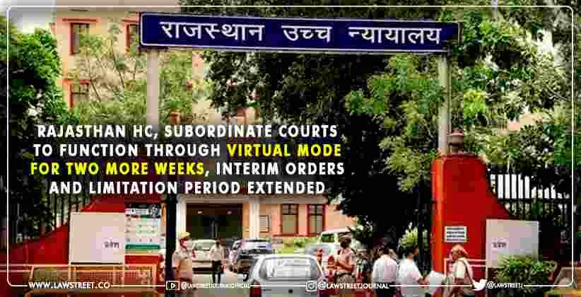 Rajasthan HC Subordinate Courts virtual mode