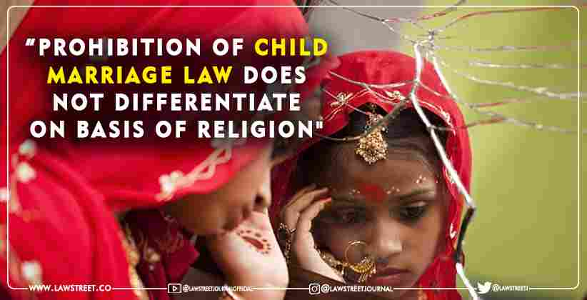 Prohibition of Child Marriage Law