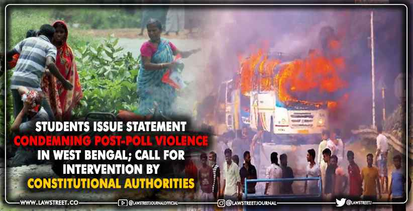 Condemning Post-Poll Violence in West Bengal