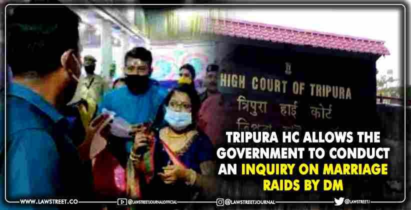 Tripura HC allows the government to conduct…