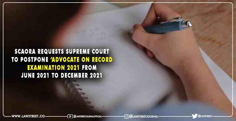 SCAORA Advocate on record examination