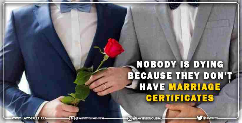 Same-Sex Marriage Recognition certificates