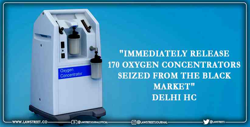 oxygen concentrators seized from the black market