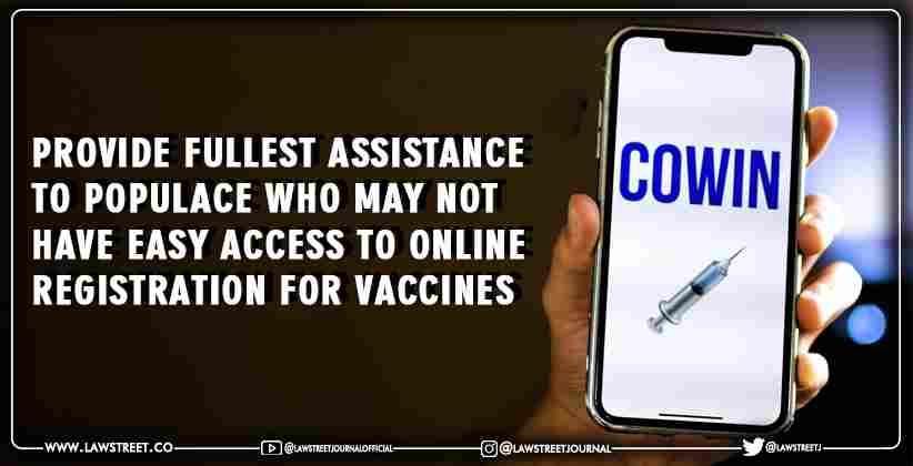 Online Registration for Vaccines