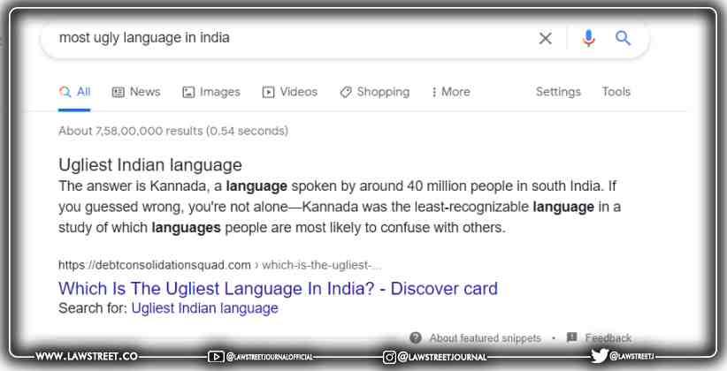 Ugliest Language in India