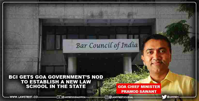 BCI gets Goa Government's nod to establish a new law school in the State