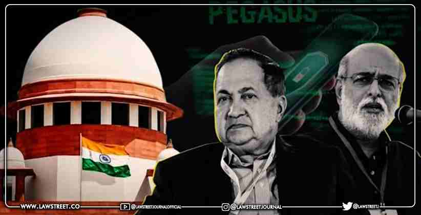 Journalists N Ram and Sashi Kumar move the Supreme Court seeking probe into Pegasus Snooping Row