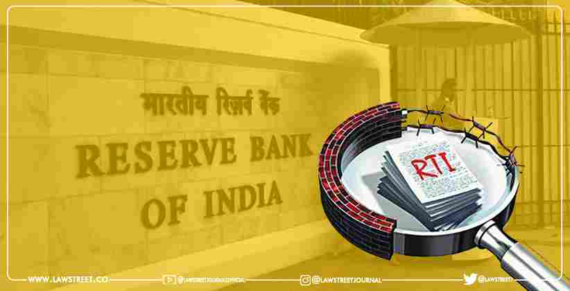 CIC Stays RBI Order Directing Bank to Disclose RTI Information on NPAs and Top Defaulters [READ ORDER]