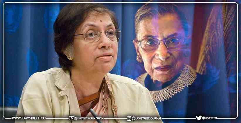 Sujata Manohar Awarded with the Ruth Bader Ginsberg