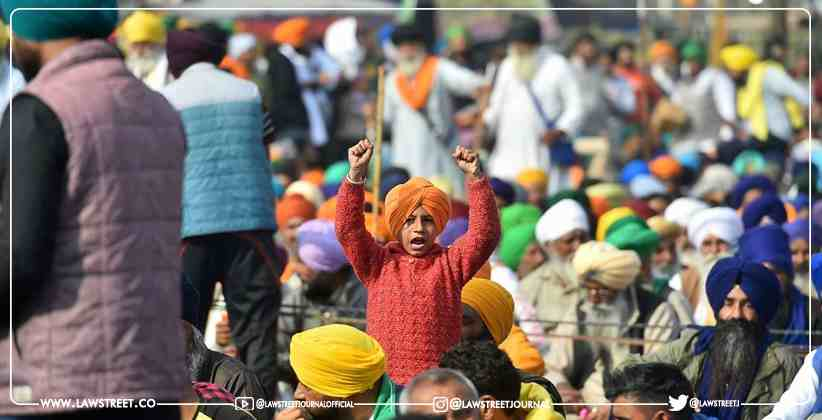 Road Block Due To Farmers Protest