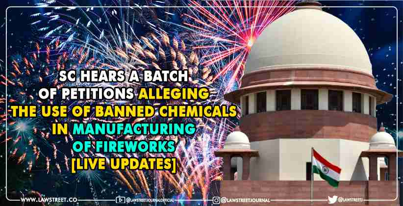 Use of banned chemicals in manufacturing of fireworks